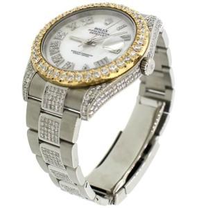 Rolex Datejust II Steel 41mm 9.9Ct Diamond Watch 116300 Box Papers
