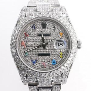 Rolex Datejust II 41MM Oyster 17.5ct Diamond-Paved Watch