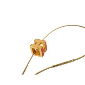 Hermes Palladium H Square Necklace