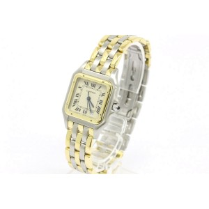 Cartier Panthere 18K Yellow Gold & Stainless Steel Quartz Womens Watch
