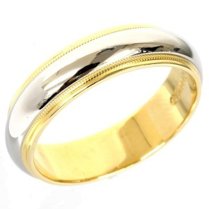 Tiffany And Co. Pt900 Platinium And 18K Yellow Gold Ring