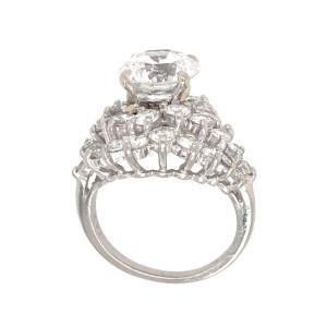 GIA Certified 3.12 ct Round Brilliant Diamond Ring