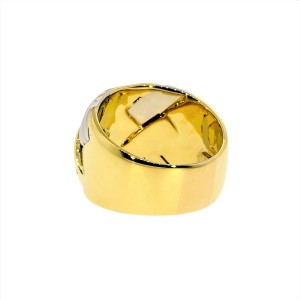 Chopard 18K Yellow and White Gold Diamond Ring Size: 8.50