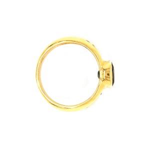 Estate 18k Yellow Gold Sapphire and Diamond Ring