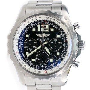 Breitling Chronospace Chronograph 46MM Black Dial Steel Watch