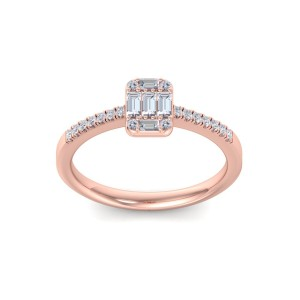 GLAM ® Baguette Diamond Ring In 14K Gold with 0.66ct White Diamonds