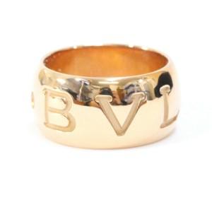 Bvlgari 18k Pink gold Mono logo Ring