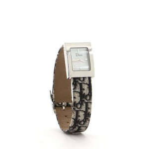 Christian Dior Malice Quartz Watch Stainless Steel and Diorissimo Leather 19