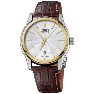Oris Artelier 0173376704351-0712173FC Stainless Steel   Leather 40mm Watch   6fae92ad122