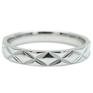 CHANEL Medium 950 Platinum Matelasse Ring