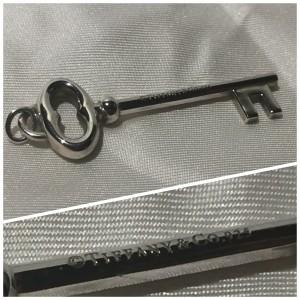 Tiffany & Co. Sterling Silver Oval Key Charm Pendant