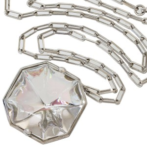 BACCARAT Crystal Design Necklace in Sterling Silver