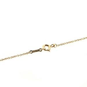 Tiffany & Co. Teardrop Pendant Necklace 18K Yellow Gold with Diamonds Medium