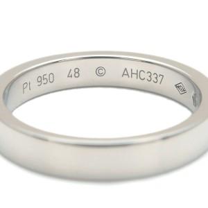 Cartier Platinum Engraved 1P Diamond Ring TNN-953