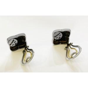 David Yurman Venetian Quatrefoil 18k Gold & Silver Earrings