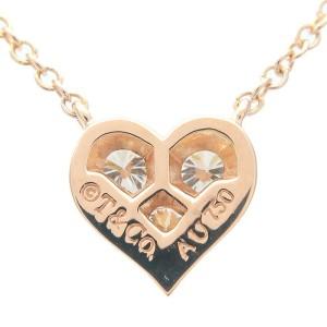 Tiffany&Co. Sentimental Heart 3P Diamond & Rose Gold Necklace TNN-946
