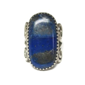 Sterling Silver With Lapis Lazuli Ring Size 8