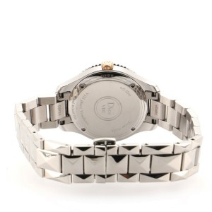 Christian Dior VIII Montaigne Quartz Watch Stainless Steel and Rose Gold with Mother of Pearl and Diamonds 32