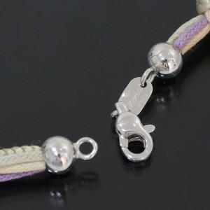 Zoccai 18k White Gold Amethyst & Diamonds Design Cord Necklace