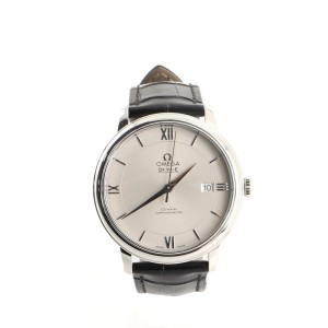 Omega De Ville Prestige Co-Axial Chronometer Automatic Watch Stainless Steel with Leather 39