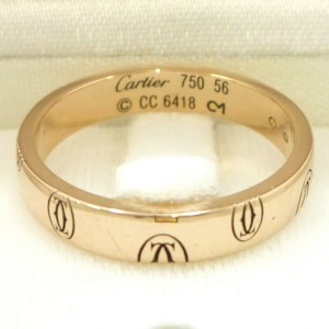 Cartier 18K Rose Gold Happy Birthday Ring US size 7.5