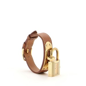 Hermes Kelly Quartz Watch Plated Metal and Leather 20