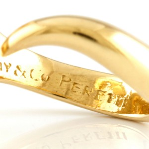 TIFFANY&Co. 18K yellow Gold Open heart Ring CHAT-435