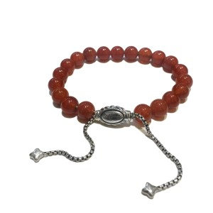 David Yurman Spiritual Beads Bracelet with Red Coral