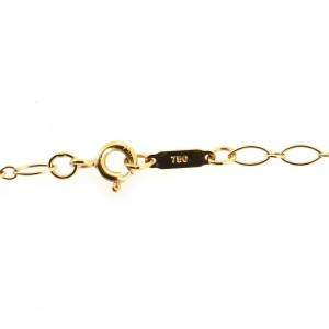 Tiffany & Co. Heart Key Pendant Necklace 18K Yellow Gold