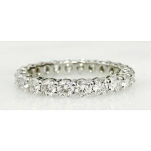 Tiffany & Co. Platinum and Diamond Wedding Band Ring Size 6.5