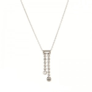 Tiffany & Co. Jazz Graduated Double Drop Pendant Necklace Platinum and Diamonds