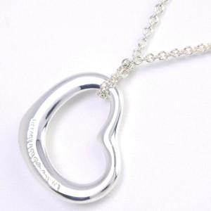 TIFFANY & Co. Silver Elsa Peretti Open heart Necklace