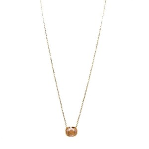 veretta 8va 18K Rose Gold Color Stone Necklace