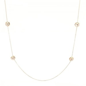 Cartier Amulette de Cartier 6 Talisman Necklace 18K Yellow Gold with Mother of Pearl and Diamond