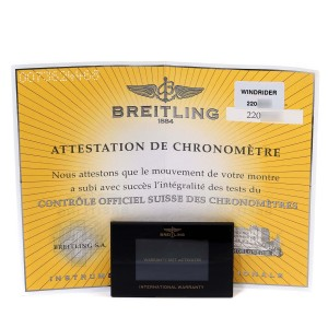 Breitling Windrider Cockpit Yellow Gold Diamond Watch B13355 Box Papers
