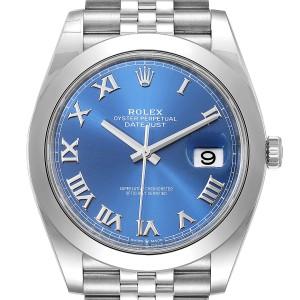 Rolex Datejust 41 Blue Dial Steel Mens Watch 126300 Box Card Unworn