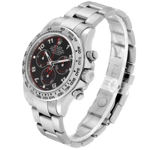Rolex Cosmograph Daytona 18K White Gold Black Dial Mens Watch 116509