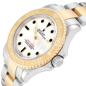 Rolex Yachtmaster White Dial Steel Yellow Gold Mens Watch 16623