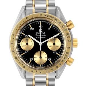 Omega Speedmaster Steel Yellow Gold Black Dial Mens Watch 175.0033