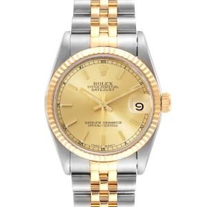 Rolex Datejust Midsize 31mm Steel Yellow Gold Ladies Watch 68273 Box
