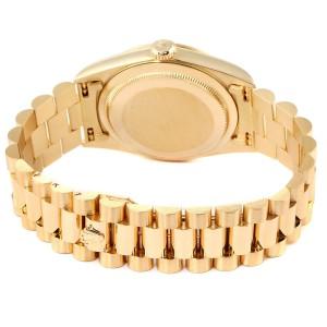 Rolex President Day-Date Yellow Gold Myriad Diamond Mens Watch 18238