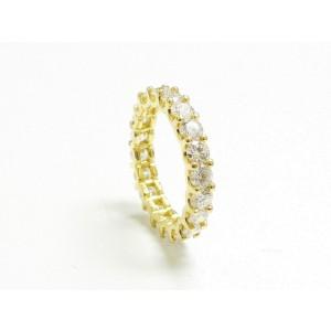 18K Yellow Gold Round Cut Diamond Eternity Band