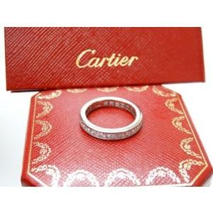 Cartier Platinum Princess Cut Diamond Wedding Eternity Band Ring