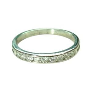 Tiffany & Co. 950 Platinum Diamond Channel Set Band Ring