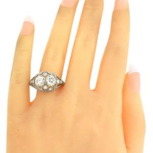 Tiffany & Co Platinum 1.86ctw Diamond Engagement Ring