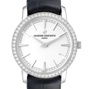 Vacheron Constantin Traditionnelle White Gold Diamond Ladies Watch 81590