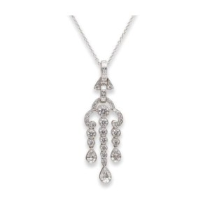Tiffany and Co. Diamond Platinum Necklace