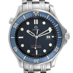 Omega Seamaster Bond 300M Blue Wave Dial Mens Watch 2221.80.00 Box Card