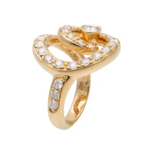 Asprey of London 18K Yellow Gold 1.15ctw. Diamond Ring Size 4.5
