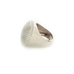 Cartier 18K White Gold & Diamond Ring Size 6.75